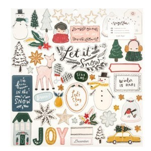 Liebe Papier - Crate Paper - Snowflake - Chipboard