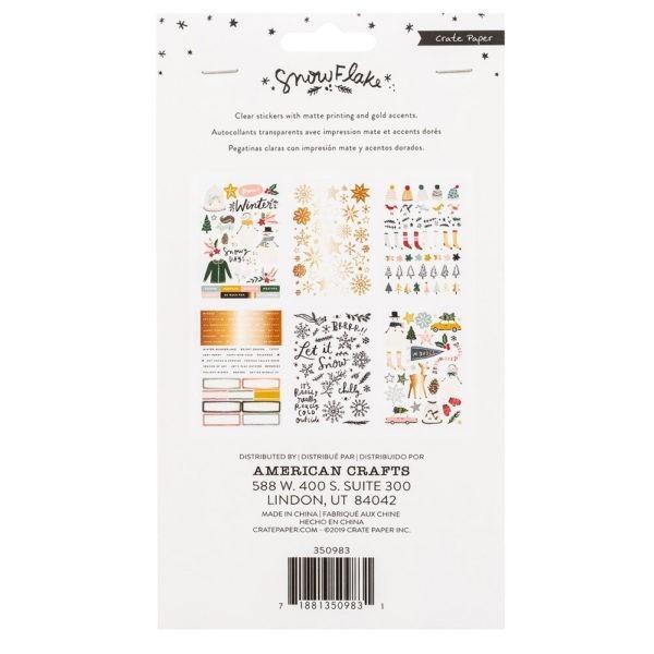 Crate Paper - Snowflake - Sticker Book