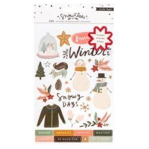 Liebe Papier - Snowflake - Sticker Book Foil