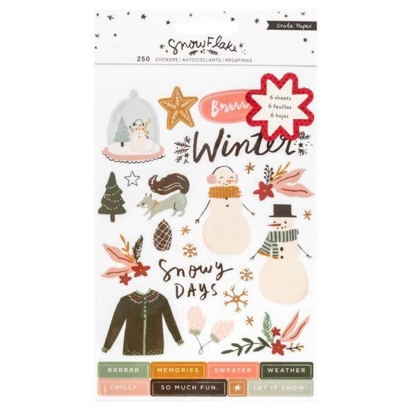 Liebe Papier - Crate Paper - Snowflake - Sticker Book