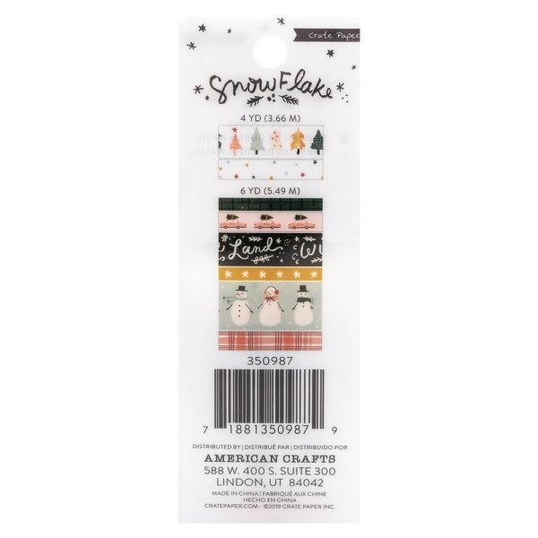 Snowflake - Washi Tape Copper Foil