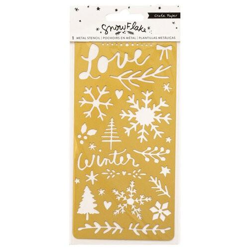 Liebe Papier - Crate Paper - Snowflake - Metal Stencil