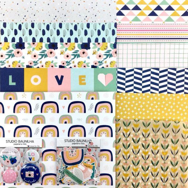 Liebe Papier - Kit Studio Baunilha - Ser Feliz
