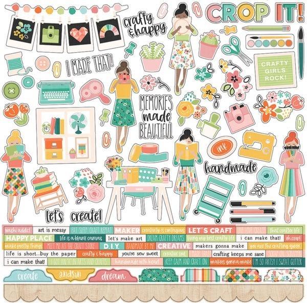 Simple Stories - Hey Crafty Girl - Adesivo