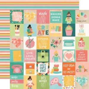 Liebe Papier - Simple Stories - Hey Crafty Girl - 2x2 Elements