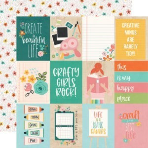 Liebe Papier - Simple Stories - Hey Crafty Girl - 3x4 Elements