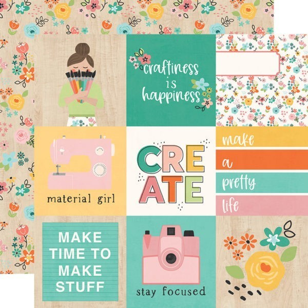 Liebe Papier - Simple Stories - Hey Crafty Girl - 4x4 Elements