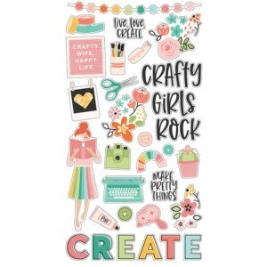 Liebe Papier - Simple Stories - Hey Craft Girl - Chipboard