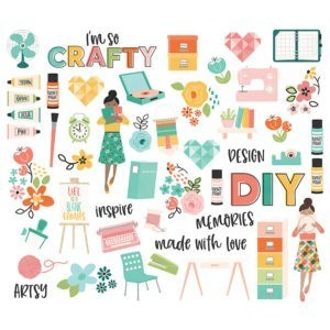 Liebe Papier - Simple Stories - Hey Crafty Girl - Diecuts