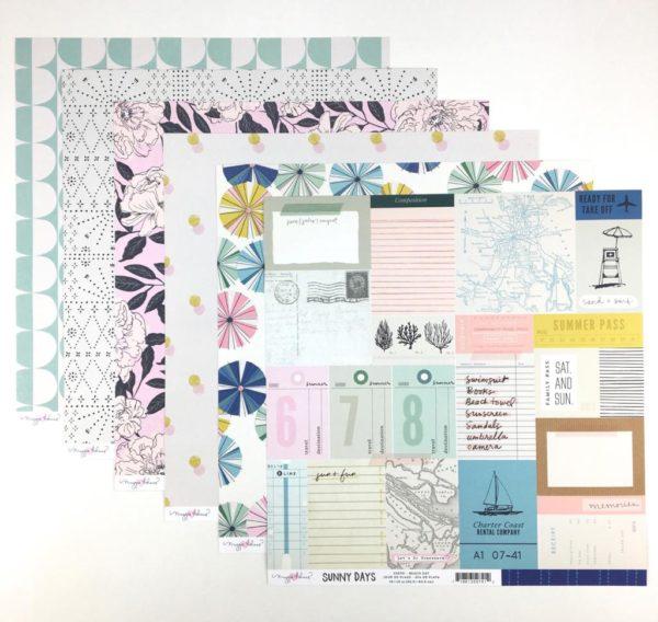 Liebe Papier - Kit Papéis - Sunny Days - Maggie Holmes