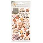 Liebe Papier - Sticker Sheet Puffy - Magical Forest