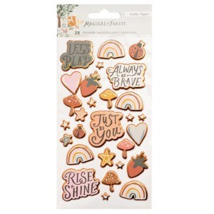 Liebe Papier - Sticker Sheet Puffy - Magical Forest