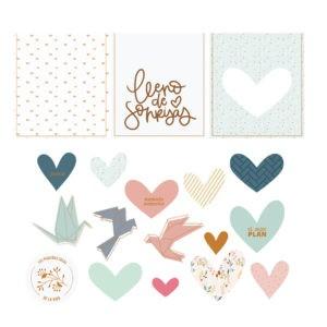 Liebe Papier - Die Cuts Vellum - Abril - Lora Bailora