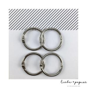 Liebe Papier - Argolas Articuladas - Media Prata