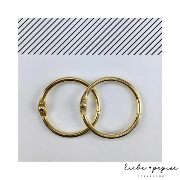 Liebe Papier - Argolas Articuladas - Grande Dourada
