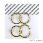 Liebe Papier - Argolas Articuladas - Media Dourada