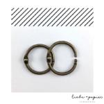 Liebe Papier - Argolas Articuladas - Ouro Envelhecido Pequena