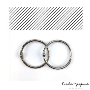 Liebe Papier - Argolas Articuladas - Grande Prata