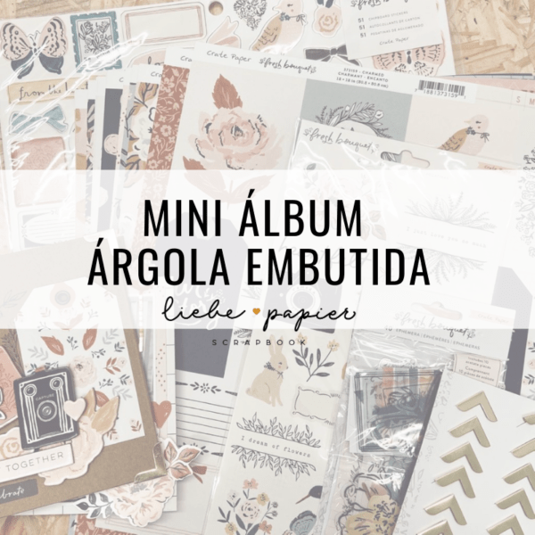 Mini álbum argola embutida