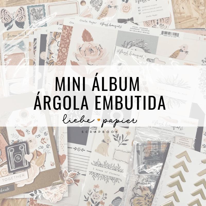 Mini álbum argola embutida
